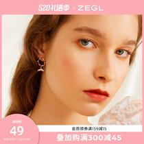 ZENGLIU鱼尾耳钉耳环女气质2021新款潮耳坠银针耳饰耳夹无耳洞
