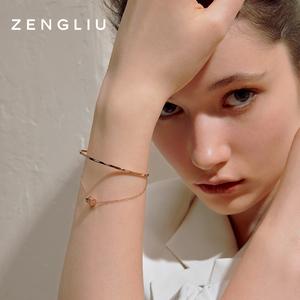 ZENGLIU设计师双层小蛮腰手链手环女轻奢小众简约手镯闺蜜手饰品