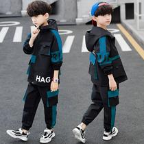 儿童装男童春装套装2020新款洋气工装运动大童帅气春秋男孩潮韩版