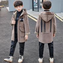 男童秋冬款洋气呢子大衣2020新款男孩中大童毛呢外套冬装中大童潮