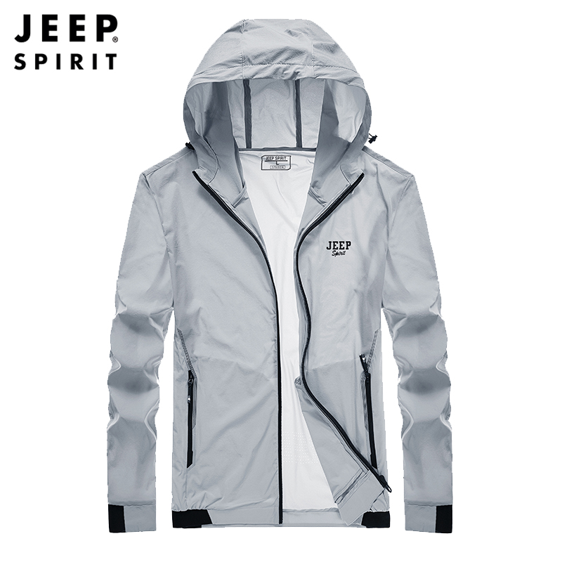 Jeep / Jeep 2021 Summer Sunnery Men's thin section breathable elastic outdoor loose sunscreen jacket tide