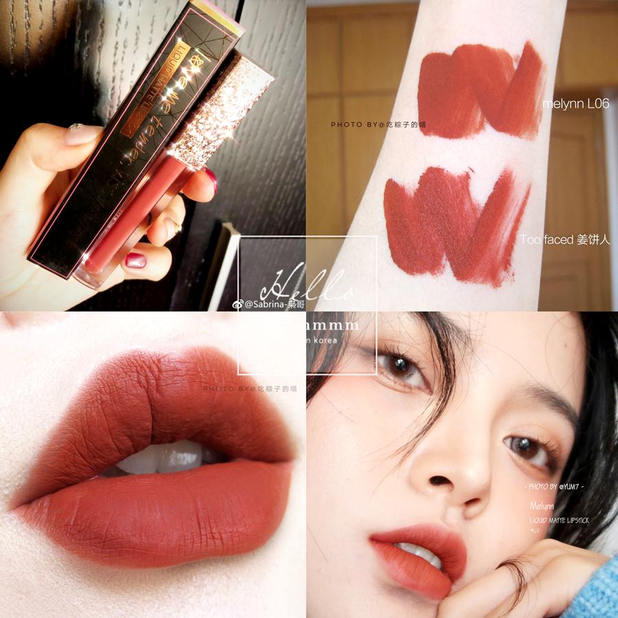 泰国Melynn哑光粉雾感唇釉口红持久不脱唇膏L06 L08 L09 L11抖音