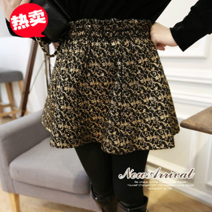 2014 new winter retro high waist bud tipping tweed skirt tutu skirts women