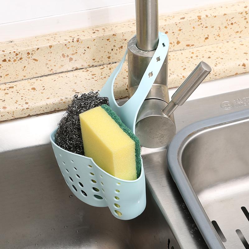 水槽塑料瀝水籃收納掛籃廚房小用品廚具置物架收納架水龍頭瀝水架