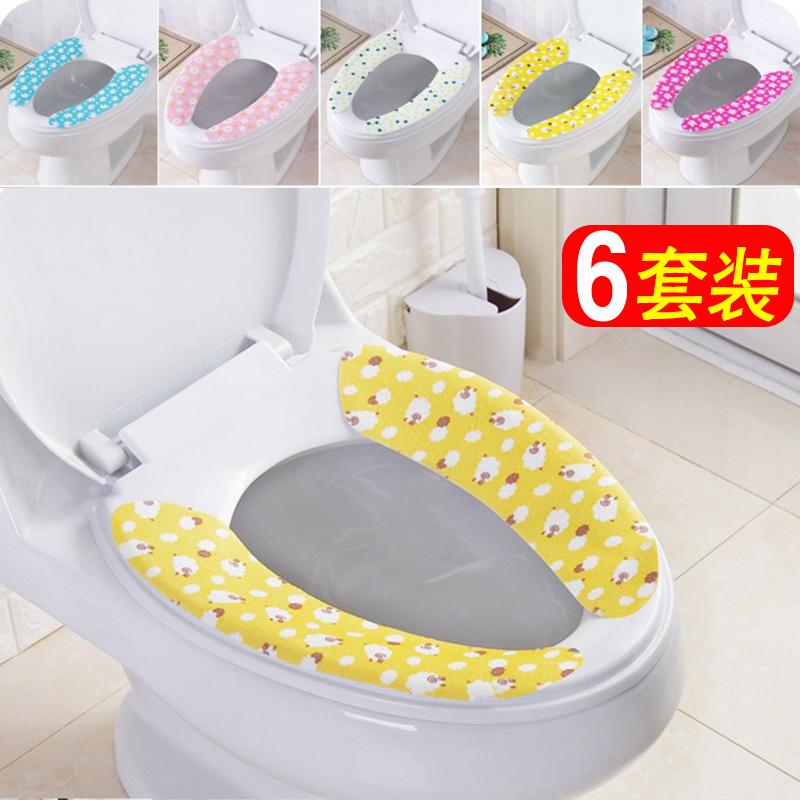 Палка стиль туалет паста сиденье для унитаза уплотнённый сохраняющий тепло моющиеся мультики статическое электричество туалет подушка мелкий подушка 6 установите