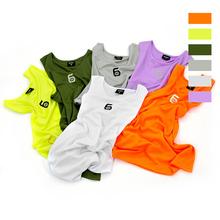 【第六区】简系列高品质糖果色刺绣logo短袖篮球背心男女夏季上衣