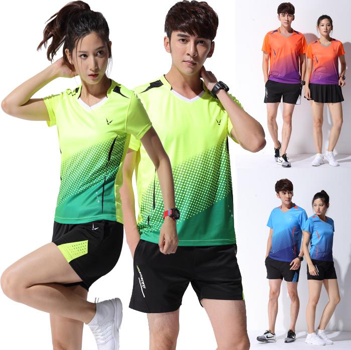 新品羽毛球服套装男速干羽毛球衣儿童训练服短袖女羽毛球上衣定制
