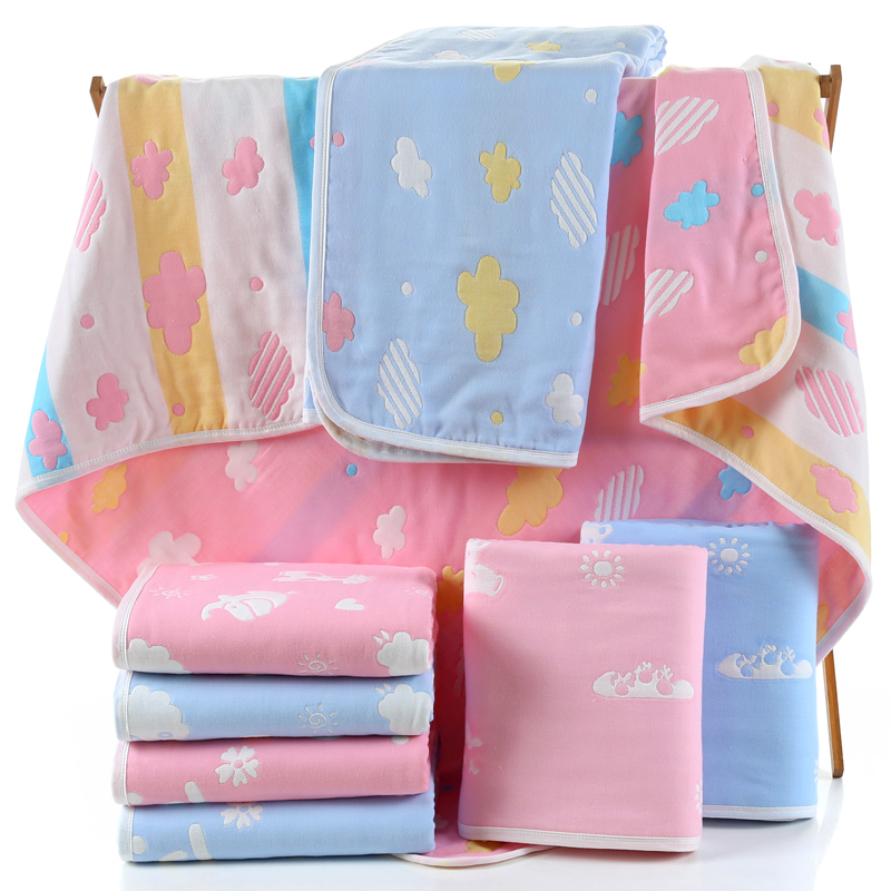 Baby bath towel pure cotton gauze super soft water absorbing bath newborn baby baby products baby home newborn quilt