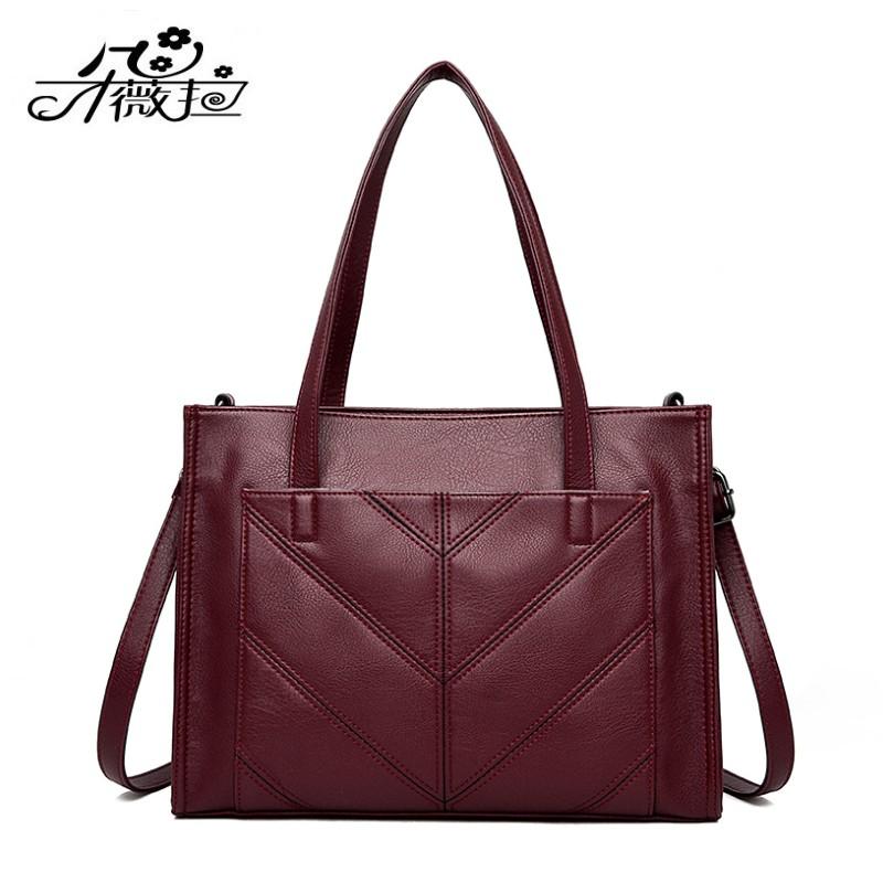 Duvela autumn winter new womens bag shoulder bag European and American business casual bag handbag