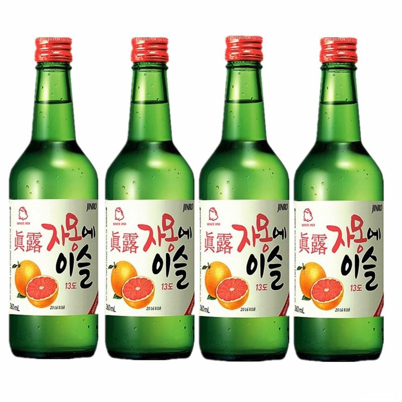 包邮瓶装4360ML西柚真露真露水果味烧酒韩国进口