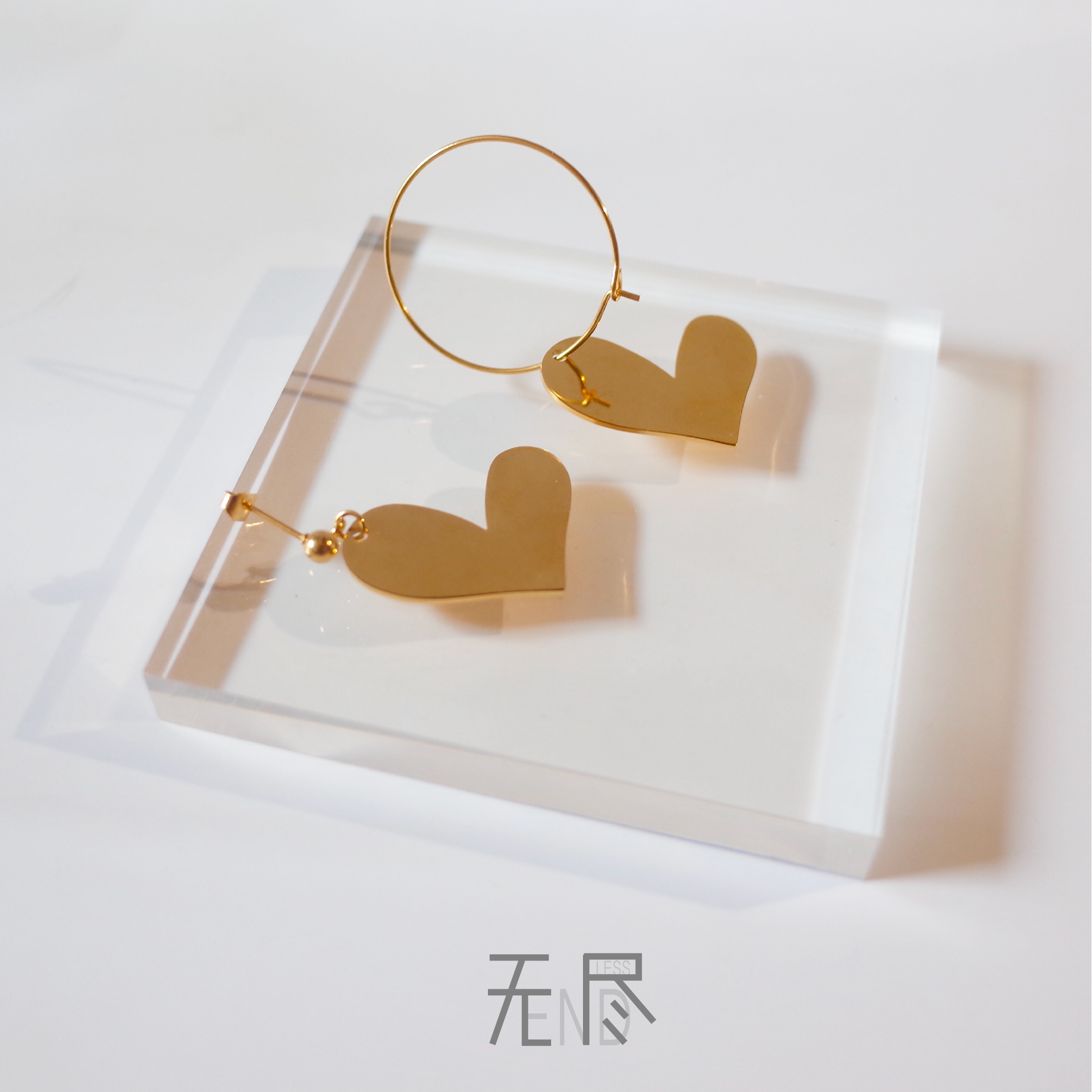 Girlish accessories lovely heart-shaped asymmetric Earrings cool girl style womens alloy earrings earrings