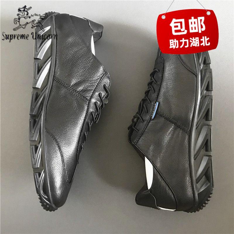 流行低帮男鞋头层牛皮不臭脚帅气软皮软底刀锋底工作休闲皮鞋潮流