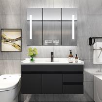 北欧浴室柜卫生间洗手池洗脸面盆池柜组合智能镜柜卫浴洗漱台落地
