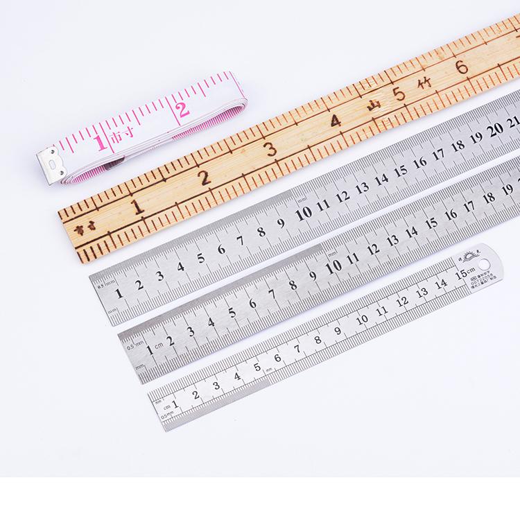 可爱伸缩量尺迷你卷尺量衣尺量腰围竹尺不锈钢尺子软尺小皮尺米尺