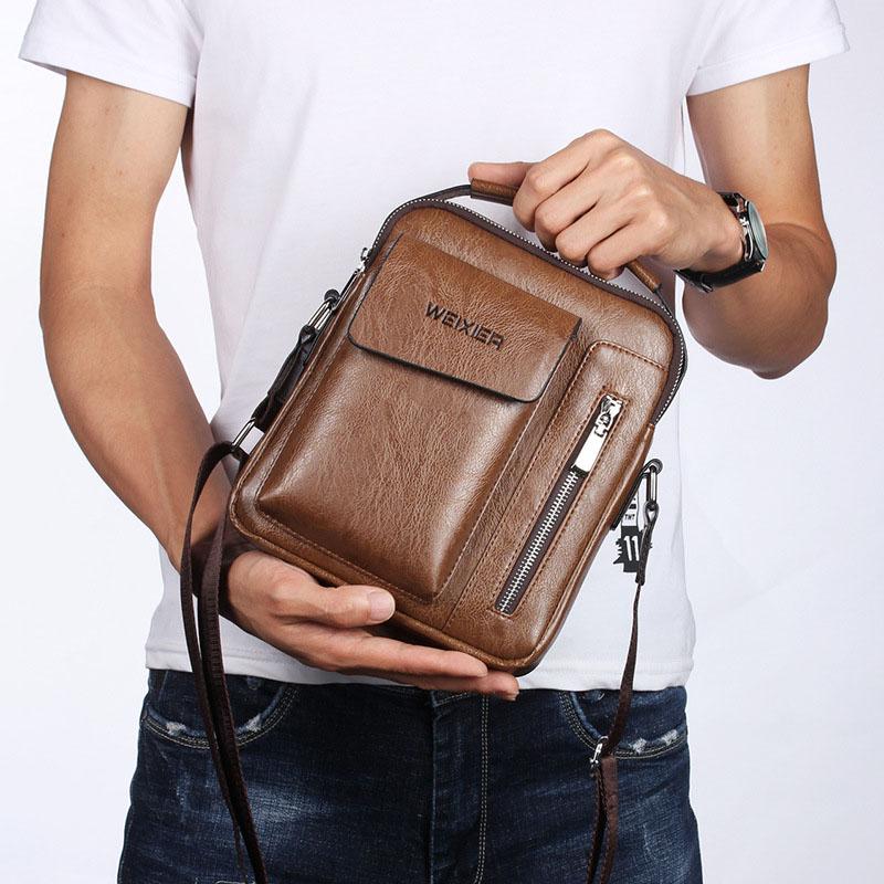 2020 new mens bag fashion trend multi-functional cross body small backpack personality one bag multi-purpose Single Shoulder Handbag