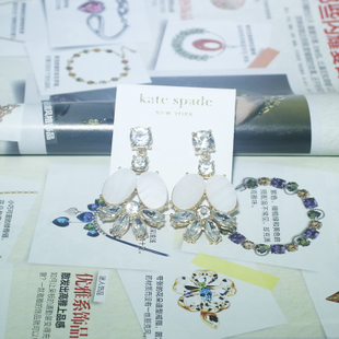 The new European and American jewelry trade spot natural shell earrings earrings crystal glass earrings over a hundred
