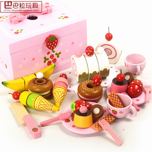 Mother Garden Small fruit honestly see children's afternoon tea snack combination play house wooden toys-games