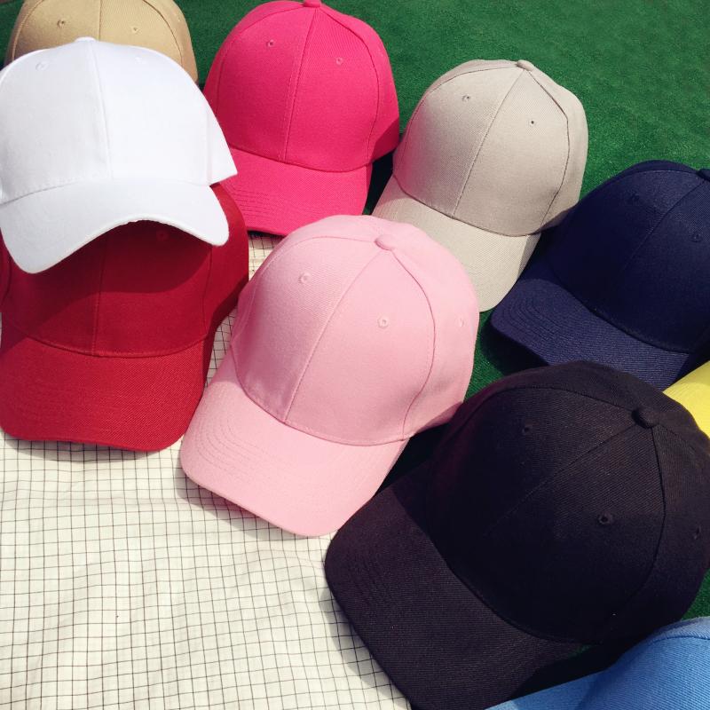 Корейская волна мужской женщина дикий твердый бейсболка сын лето улица чёрный розовый студент затенение фуражка любители