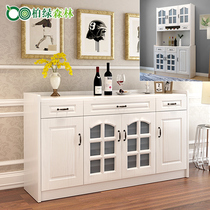 Modern minimalist dining Cabinet kitchen storage cabinet cabinet locker microwave European cupboard Tea water cabinet