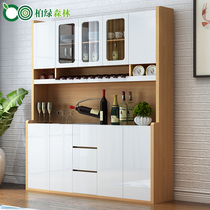 Nordic Dining cabinets Microwave kitchen cabinets high wine rack cupboard large storage modern simple wine cabinet Tea water cabinet