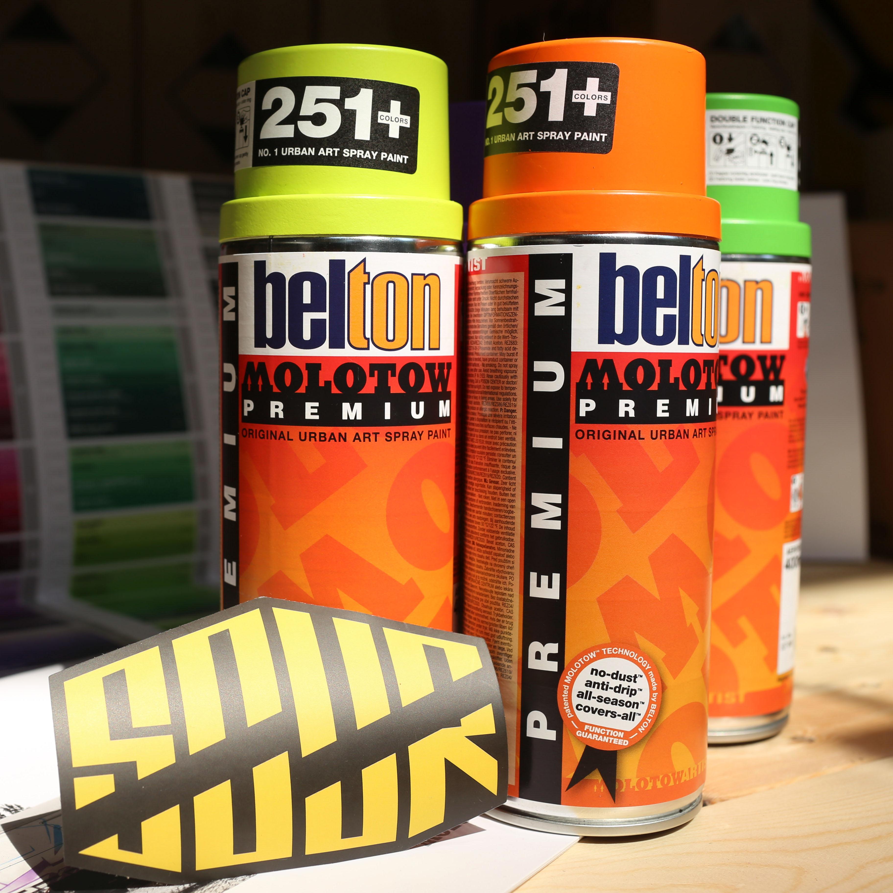 MOLOTOW | BELTON PREMIUM импорт из германии специальность граффити окраска распылением | супер крышка | 251 цвет