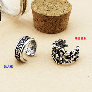 BigBang Quan Zhilong Chrome Hearts type not adjustable ring opening