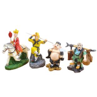 西遊記師徒四人模型創意汽車載樹脂擺件孫悟空豬八戒家客廳裝飾品