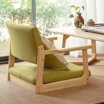 榻榻米椅子靠背椅日式無腿凳靠椅和室扶手實木電腦飄窗床上矮座椅
