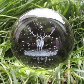 水晶球麋鹿星空圆球创意家居装饰品玻璃球小摆件可爱生日礼物女生图片