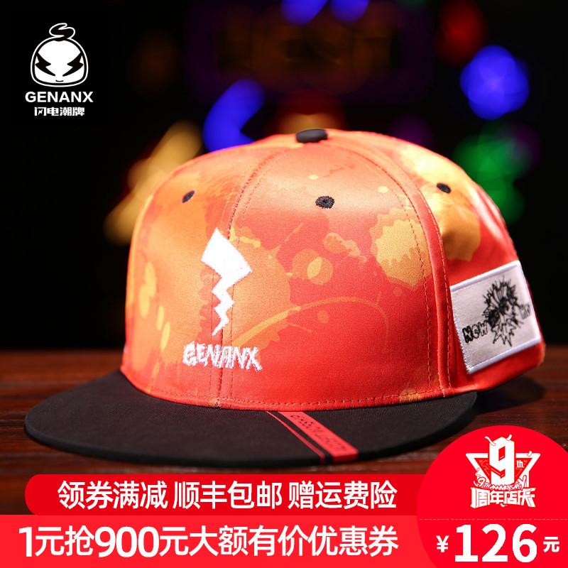 genanx闪电潮牌男ins2019国潮帽子(非品牌)
