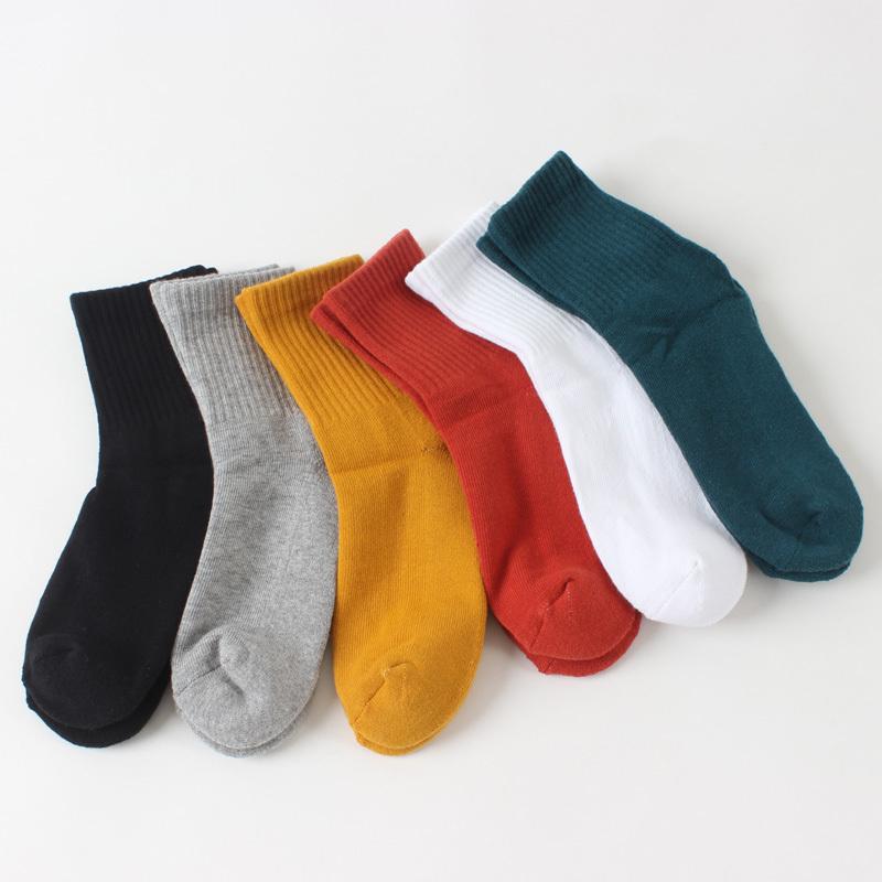 假一赔三女士毛巾底运动中筒袜子 加厚纯棉透气防臭黑色白色健身跑步袜