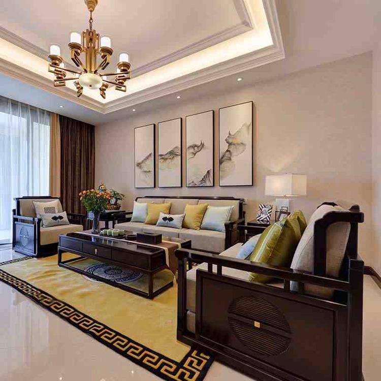 新中式沙发组合现代中式轻奢简约客厅整装实木中国风禅意家具定制