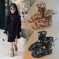 查看女童凉鞋2021新款时尚中大童凉靴儿童夏季小女孩软底高筒罗马鞋子价格