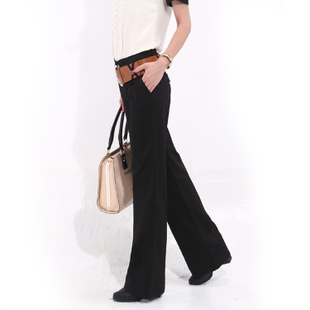 363 Autumn 2015 Korean version of the new black wide leg pants pants big yards straight women s casual pants trousers genuine