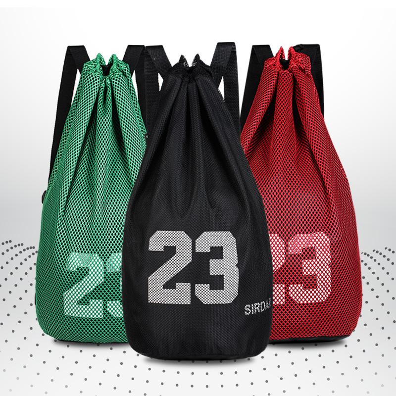 篮球袋篮球包带足球包抽绳束口袋包防水双肩运动包大容量男健身包