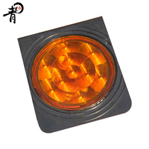 Green AO Solar traffic small warning lamp safety Reflective logo Solar lamp