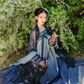 【星语现货】观沧海原创正版汉服星语星愿 齐胸襦裙汉元素星空裙图片