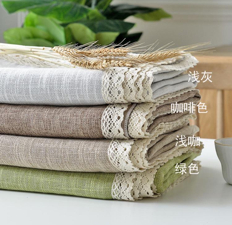 限10000张券新品棉麻田园小清新长方形餐桌布