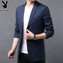 Playboy casual suit jacket, men's handsome and handsome Korean version of fashionable small suit for young people in spring and summer