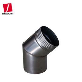 德国ES不锈钢壁炉专用45°/90°弯头  塞甘壁炉专用配件图片