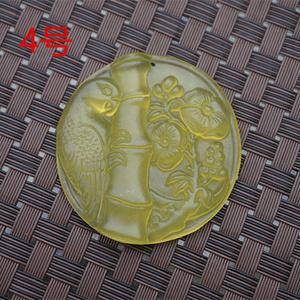 天然玉石黄岫玉鹦鹉竹节花鸟杂件吊坠挂件玉佩项坠古韵玉器收藏
