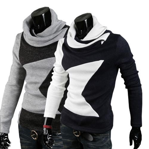 Осень зима мода новый пятиконечная звезда шаблон размер Англии Мужская aliexpress скидки лучшие продажи мужской свитер