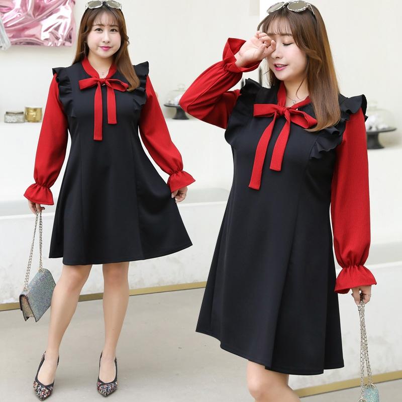 超特大碼女裝240斤春季連衣裙胖人妹妹mm寬松顯瘦洋氣法式桔梗裙