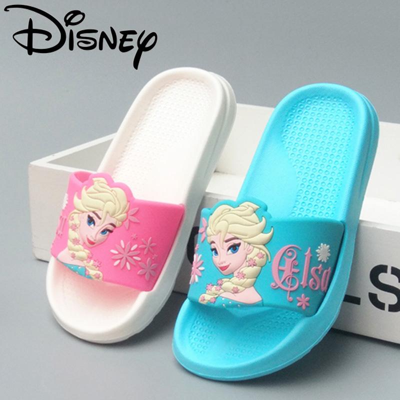 冰雪奇缘爱莎公主儿童拖鞋女夏季可爱凉拖亲子迪士尼防滑软底外穿
