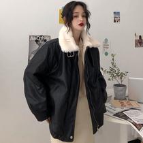 机车皮衣女初秋新款韩版短款夹克百搭宽松黑色外套2018VEGACHANG