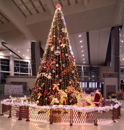 柔蓝若婷 大型圣诞树框架树商场酒店宾馆圣诞场景布置装饰5-30米