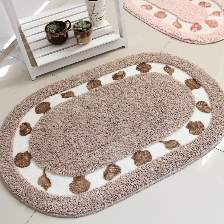 地中海风田园地垫卧室地毯浴室吸水门垫书房阳台脚垫卫生间防滑垫