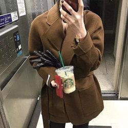 2020新款韩国东大门双面女羊绒大衣