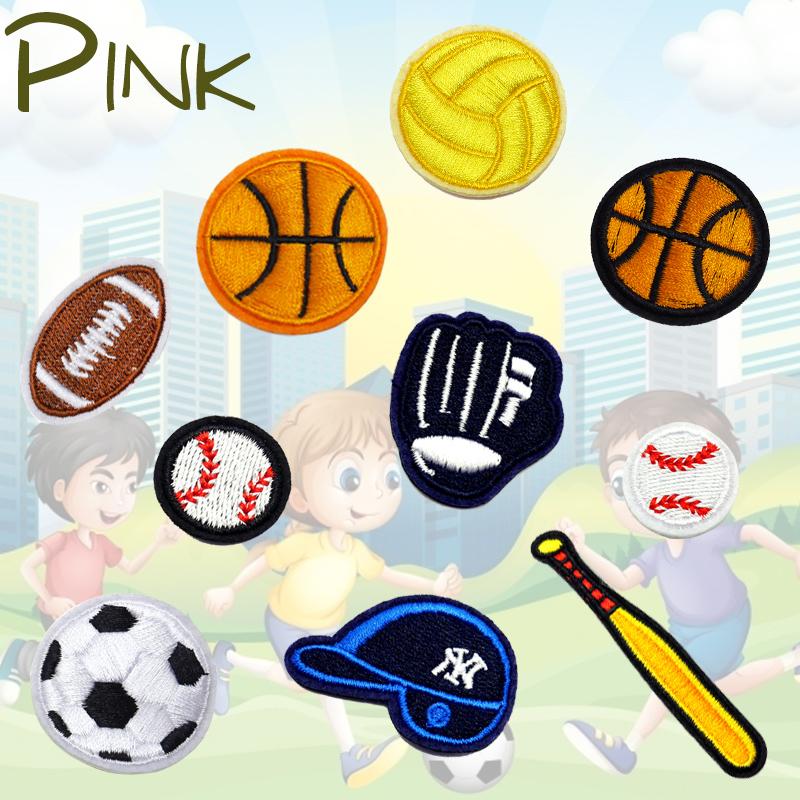卡通补丁贴男孩破洞修补贴羽绒服补洞贴刺绣篮球足球橄榄球布贴小