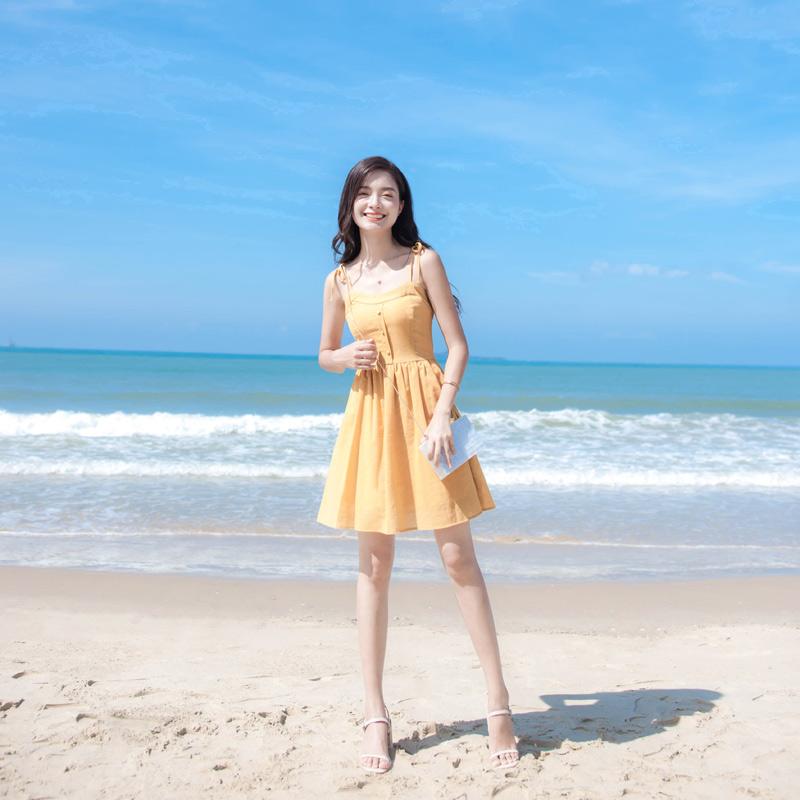 (用5元券)泰国巴厘岛2019女夏装新款潮沙滩裙